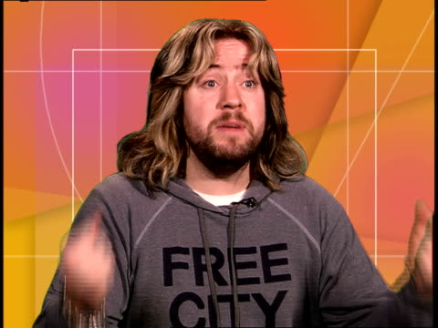 comedian justin lee collins interview; england: london: int justin lee collins interview sot - the concept for the show - the first instalment which... - paul daniels stock videos & royalty-free footage
