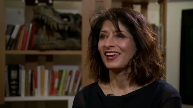 comedian shappi khorsandi talks about sexism in her industry shappi khorsandi interview sot - shappi khorsandi stock videos & royalty-free footage
