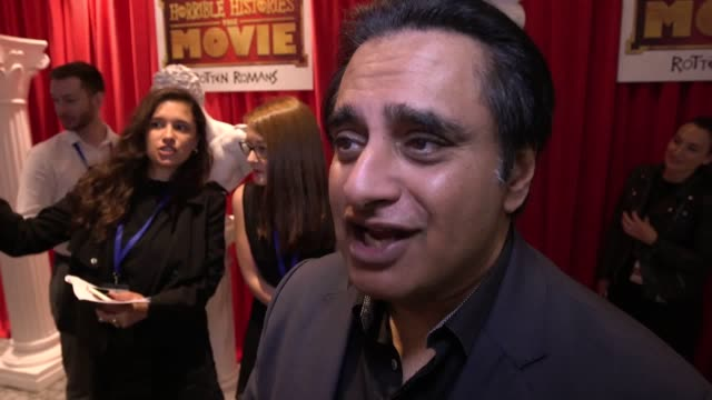 comedians attend the premiere of horrible histories the movie rotten romans at the odeon leicester square in london interviews with dominic... - romans stock videos and b-roll footage