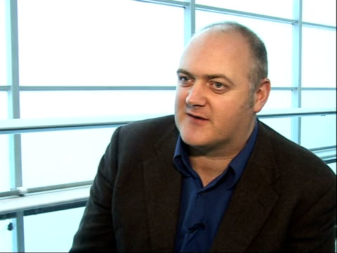 dara o'briain interview; o'briain interview sot - on success of 'mock the week' and how they pointed out the over-the-top nature of the olympics... - dara o'briain stock videos & royalty-free footage