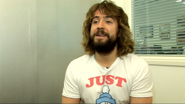 justin lee collins interview; justin lee collins interview sot - on favourite celeb for friday/ sunday night project - on entering eurovision song... - friday stock videos & royalty-free footage