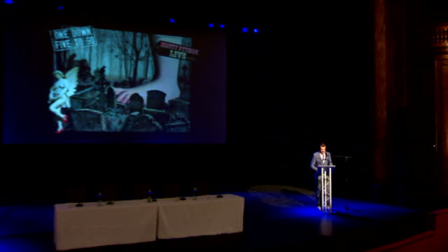 monty python press conference ahead of reunion show; england: london: london palladium: int paul phear introductory speech sot - monty python stock videos & royalty-free footage