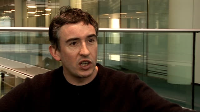 steve coogan interview; - on other characters he has created such as saxondale / how he has updated his characters for the 2000s / adding in tabloid... - steve coogan stock videos & royalty-free footage