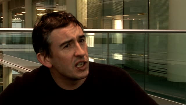 steve coogan interview; - on what alan partridge's reaction to barack obama becoming us president-elect would be / on his political impressions /... - steve coogan stock videos & royalty-free footage