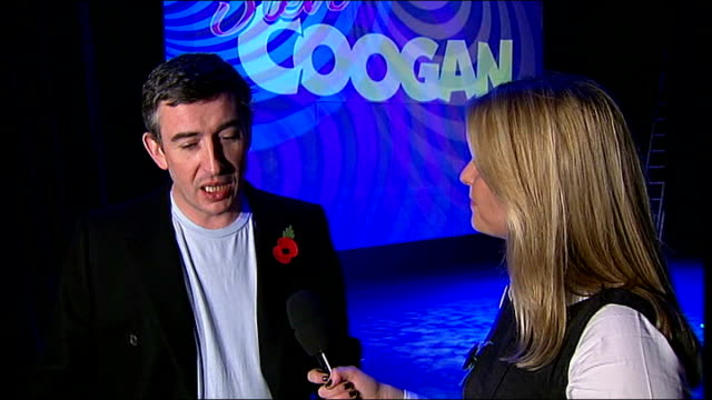 steve coogan stand-up tour; coogan interview sot - on his film success in america, british traditional sense of humour - steve coogan stock videos & royalty-free footage