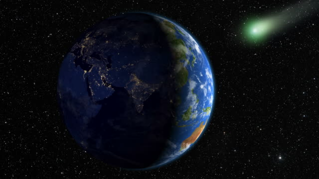 comet approaching the earth - comet stock videos & royalty-free footage