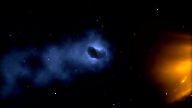 comet encke hit by cme - 彗星点の映像素材/bロール