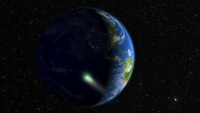 comet heading to earth - north america stock videos & royalty-free footage