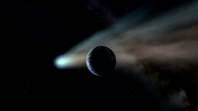 Comet impact on Earth