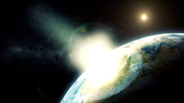 stockvideo's en b-roll-footage met comet impact on planet earth - bom