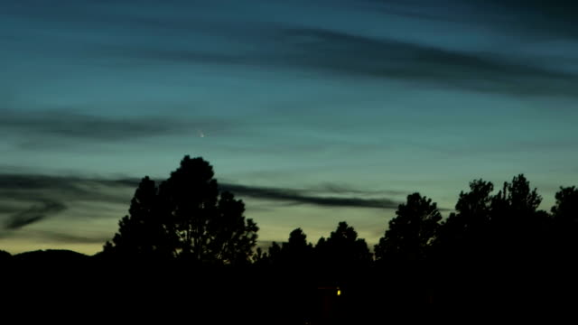 comet pan-starrs, timelapse - tail stock videos & royalty-free footage