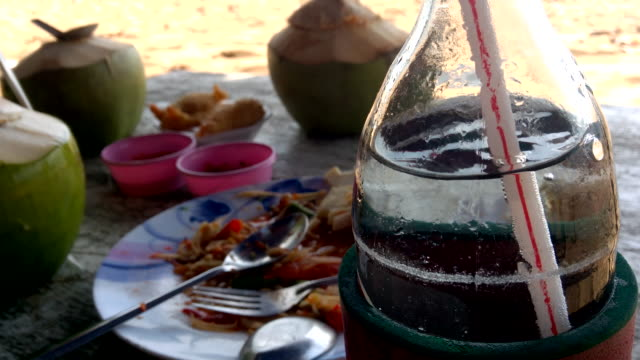 comfort food and drink at jomtien beach pattay - comfort food stock videos & royalty-free footage
