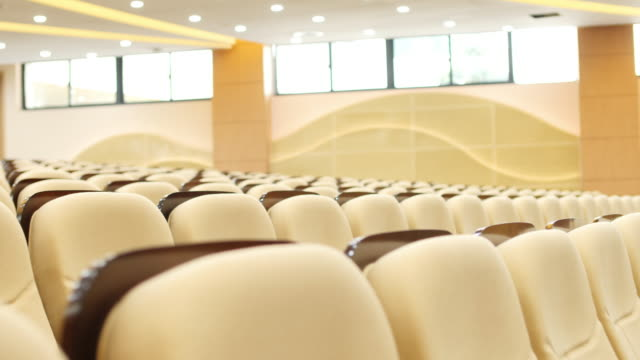 comfortable chairs in modern luxury conference hall