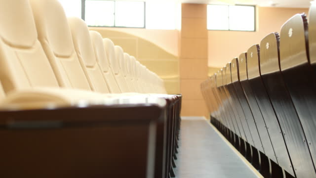 comfortable chairs in modern luxury conference hall - auditorium stock videos and b-roll footage