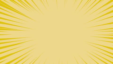 comic spin line färg vit ljusgul bakgrund. rörelse spinn linje. animering av linje effekt - rea bildbanksvideor och videomaterial från bakom kulisserna