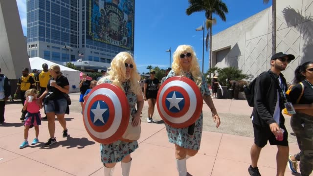 comiccon on july 22 2018 in san diego california - san diego comic con stock videos and b-roll footage
