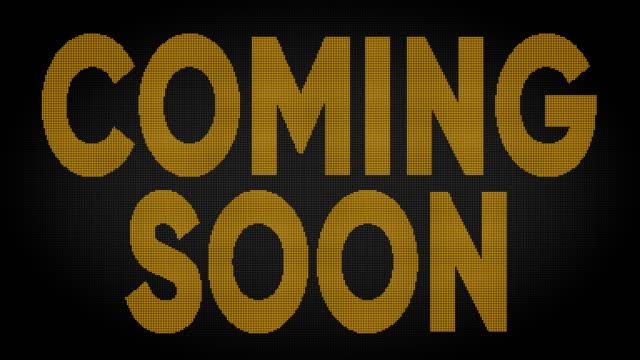 coming soon led screen - evento in diretta video stock e b–roll