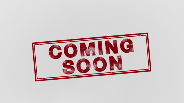 coming soon - timbro video stock e b–roll