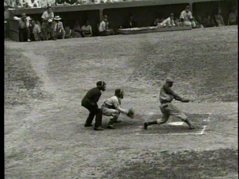 cominskey park / negro national league baseball game / new york cubans / medium shot of two cubans players / a pitch from the mound / group shot of... - sports league stock videos & royalty-free footage