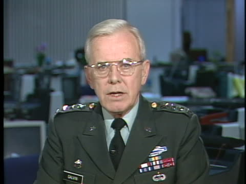 commander general john galvin says the reunification of germany will impact nato in a good way. - united states and (politics or government) stock videos & royalty-free footage