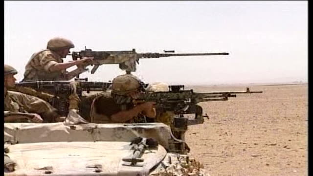 nato commanders call for more troops afghanistan gereshk ext close up of nato troops firing rifle during training exercise sot three soldiers in... - afghanistan stock videos & royalty-free footage
