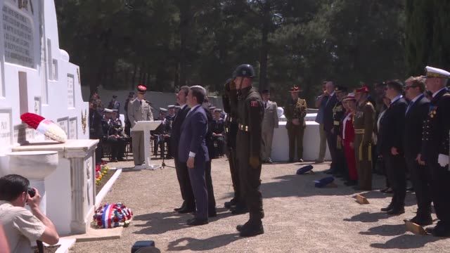 a commemoration ceremony is held at the french memorial to mark the 103rd anniversary of the gallipoli campaign on april 24 2018 in the northwestern... - new zealand culture stock videos and b-roll footage