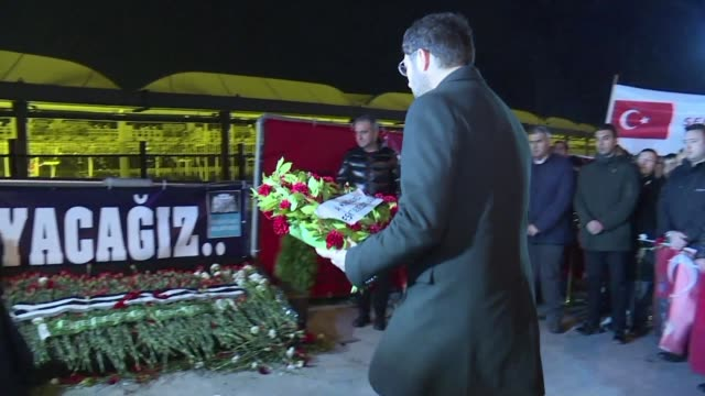 A commemoration ceremony is held in Istanbul at the precise time when 46 people including 39 policemen were killed one year ago in twin bombings near...