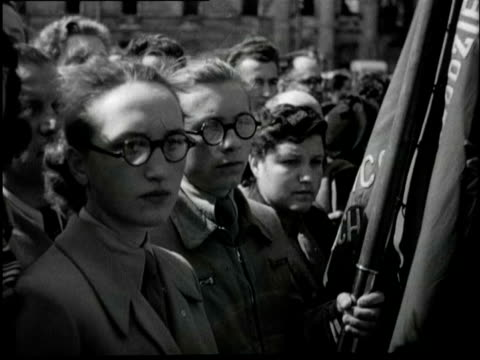 commemoration in warschau and paris of the jewish victims of the second world war - warschau stock videos and b-roll footage