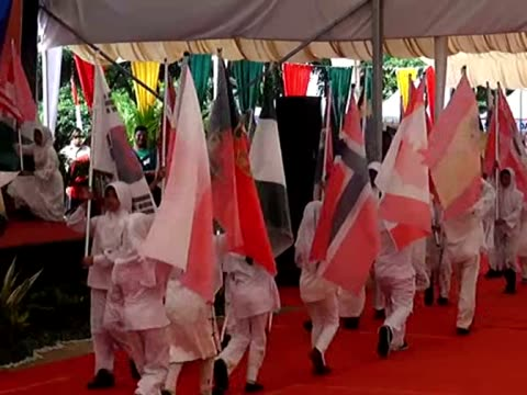 commemorative ceremony is organized for victims of 2004 indian ocean earthquake and tsunami in aceh province of indonesia on the 10th anniversary of... - indian ocean stock videos & royalty-free footage