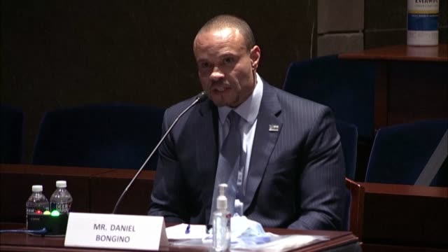commentator daniel bongino testifies at a house judiciary committee hearing on the justice in policing act to reform law enforcement practices after... - commentator stock videos & royalty-free footage
