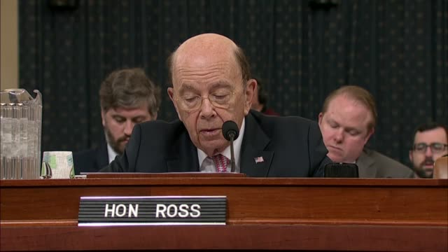 commerce secretary wilbur ross tells members of the house ways and means committee that at a hearing on tariff policies that a foreknown entity could... - petition stock-videos und b-roll-filmmaterial