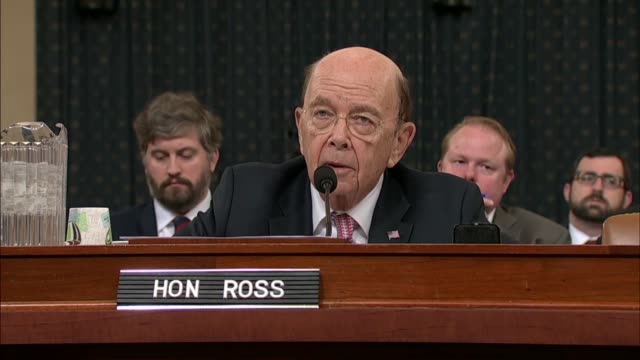 commerce secretary wilbur ross told michigan congressman sander levin at a house ways and means committee hearing on tariff policy that in the normal... - tariff stock videos & royalty-free footage