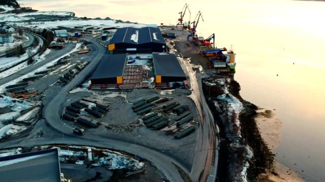 commercial dock in norway - nordland county stock videos & royalty-free footage