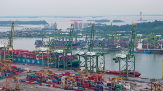 commercial port of singapore - tariff stock videos & royalty-free footage