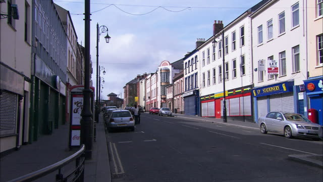 Commercial street in Derry, Londonderry, Northern Ireland