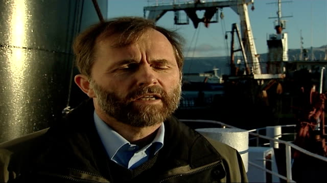 Kristjan Loftsson and reporter onto Hvalur8 whaling boat Kristjan Loftsson interview SOT whalers are very skilled at killing whales instantly/ when...