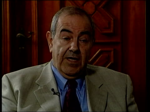 Baghdad INT Iyad Allawi interviewed SOT Stand by think Saddam and his intelligence had connections with Al Qaida organisations Believe these...