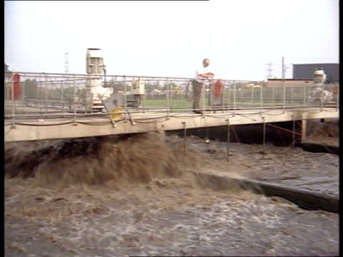 ec commission to prosecute britain over drinking water itn lib aylesbury sewage works - sewage stock videos and b-roll footage