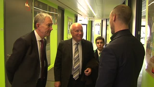 commitment to grassroots football by fa premier league and government england london evelyn grace academy int helen grant mp greg dyke richard... - greg dyke stock videos & royalty-free footage