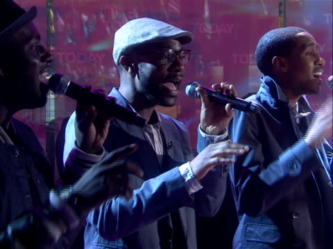 """committed for footage of this performance contact nbc news archives a capella musical group """"committed"""" performs a song medley after five weeks of... - gospel stock videos & royalty-free footage"""