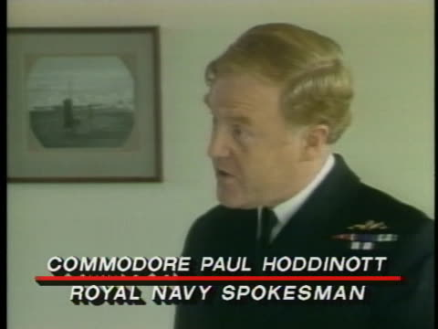 commodore paul hoddinott of the royal navy comments on how commercial fishing has always been hazardous. - spokesman stock videos & royalty-free footage