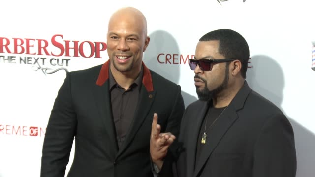 Common and Ice Cube at Barbershop The Next Cut Los Angeles Premiere at TCL Chinese Theatre on April 06 2016 in Hollywood California