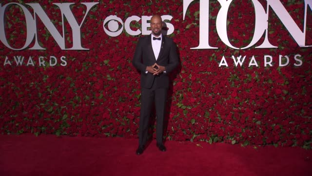 common at 2016 tony awards red carpet at the beacon theatre on june 12 2016 in new york city - 70th annual tony awards stock videos and b-roll footage