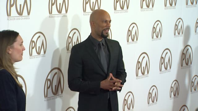 vidéos et rushes de common at 26th annual producers guild awards in los angeles, ca 1/24/15 - producer's guild of america awards