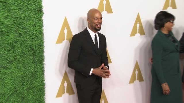 common at 87th annual academy awards nominee luncheon - reception at the beverly hilton hotel on february 02, 2015 in beverly hills, california. - the beverly hilton hotel stock videos & royalty-free footage