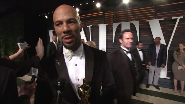 interview common at the 2015 vanity fair oscar party hosted by graydon carter at wallis annenberg center for the performing arts on february 22 2015... - wallis annenberg center for the performing arts stock videos and b-roll footage