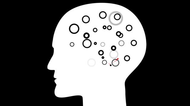 brain : common sense lobe, black back (loop) - lobe stock videos & royalty-free footage
