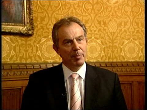 commons approves 'glorification of terrorism' charge house of commons tony blair mp along pan tony blair mp speaking to press sot take far stronger... - house of commons stock videos and b-roll footage