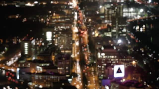 T/L HA WS FOCUSING Commonwealth Avenue at night, Boston, Massachusetts, USA