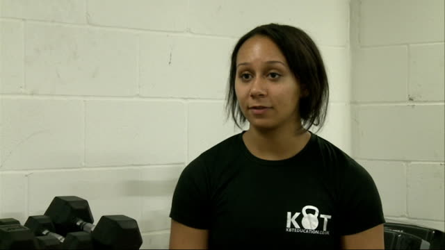 Commonwealth champion Zoe Smith prepares for World Championships ENGLAND London INT Various of Commonwealth Games weightlifting champion Zoe Smith...